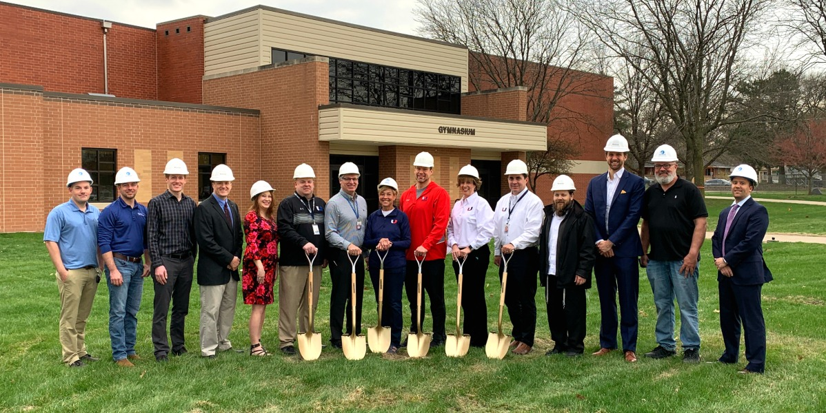UHS Fitness Center Ground Breaking 4.17.19 crop site